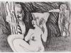 Schwarzweiß Zeichnung Peter Dworak 014