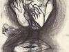 Schwarzweiß Zeichnung Peter Dworak 022